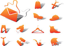 62A. Clothing and shoes. Set icons - 62A. Clothing and shoes. Fashionable clothing, shoes, hats, jewelry and accessories vector illustration