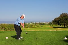 64高尔夫球运动员 免版税图库摄影