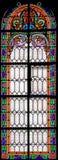 64 окно запятнанное стеклами Стоковое Изображение