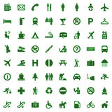 64 different icons, pictogram - green Royalty Free Stock Photos