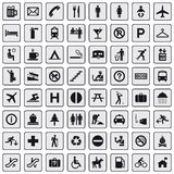 64 different icons, pictogram - grey