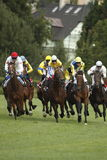 65匹马赛跑st tattersalls的leger种族 免版税库存照片