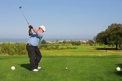 65高尔夫球运动员 库存图片