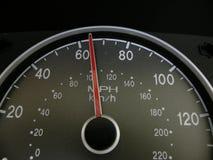 65 Miles par heure photographie stock libre de droits