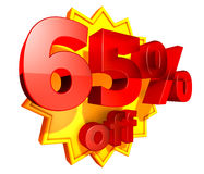 65 percent price off discount Royalty Free Stock Image