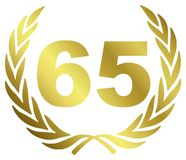 65 verjaardag vector illustratie