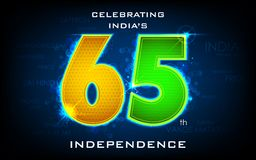 65th празднуя независимость Индия дня Стоковое Изображение
