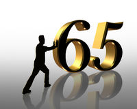65th Birthday illustration 3D royalty free stock photography
