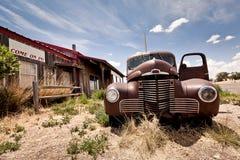 66被放弃的餐馆途径 免版税库存照片