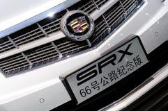 66辆卡迪拉克徽标途径srx 免版税库存照片