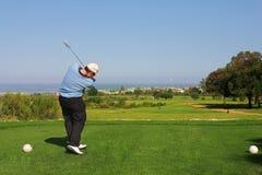 66高尔夫球运动员 免版税库存图片