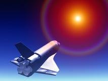 在天空66的航天飞机 库存照片