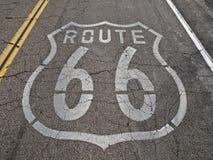 66 bleknad route Arkivfoto