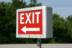 66 drive exit route sign Στοκ φωτογραφία με δικαίωμα ελεύθερης χρήσης