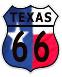 66 kolorów trasa Teksas ilustracja wektor