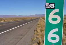 66 mile rt Royaltyfri Fotografi