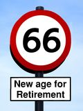 66 new age for retirement Royalty Free Stock Image