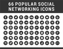 Free 66 Popular Social Media Icons Stock Image - 116509081