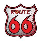 66 tras znak Zdjęcie Stock