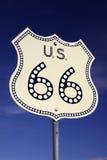 66 trasa drogowy znak Fotografia Stock