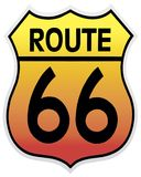 66 trasy Fotografia Stock