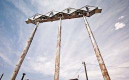 66 wzdłuż trasa cukiernianego historycznego znaka Texas Zdjęcia Stock