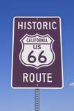 66 znak California rt Zdjęcie Royalty Free