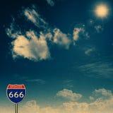 666 d'un état à un autre. Image stock