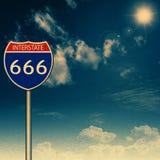 666 de um estado a outro Imagens de Stock Royalty Free