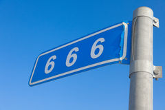 666 mile Royaltyfri Bild