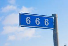 666 mile Arkivbild