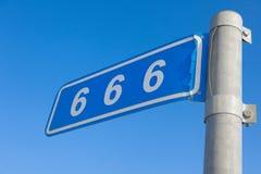 666 milles Image libre de droits