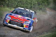 66th Rally Poland 2009 - Sebastien Loeb Royalty Free Stock Photos