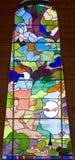 67块玻璃被弄脏的视窗 免版税库存图片
