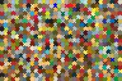 672 parti di puzzle hanno unito in un backgroun variopinto Fotografie Stock