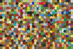 672 parties de puzzle combinées dans un backgroun coloré Photos stock