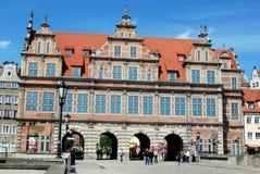 68 1564 gate gdansk gröna poland Fotografering för Bildbyråer