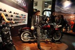 69. EICMA 2011 - Harley-davidsonberührung 3 Stockbilder