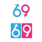 69 hij en zij vector illustratie
