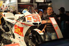 69th EICMA 2011 Gilera stand Stock Images