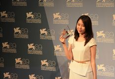 69th Venice Film Festival. Yoo Ming-young poses for photographers at 69th Venice Film Festival on September 8, 2012 in Venice, Italy Royalty Free Stock Photo