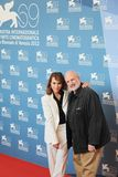 69th Venice Film Festival. Noomi Rapace and Brian De Palma poses for photographers at 69th Venice Film Festival on September 8, 2012 in Venice, Italy Royalty Free Stock Photo