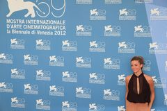69th Venice Film Festival. Giulia Valentini poses for photographers at 69th Venice Film Festival on September 8, 2012 in Venice, Italy Stock Images
