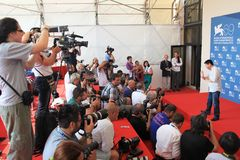69th Venice Film Festival. Wang Bing poses for photographers at 69th Venice Film Festival on September 8, 2012 in Venice, Italy Stock Photos