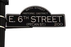 6de Straat in Austin Texas Stock Afbeeldingen