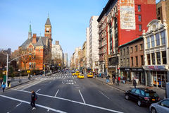 6th Ave at Greenwich Village in NYC Royalty Free Stock Photography