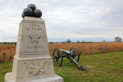 6th maine battery monument Royalty Free Stock Image