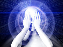 6th Sense Covering Eyes Stock Images