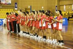 7ème netball asiatique Singapour de championnat Photos libres de droits