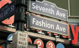 7ème Signe d'avenue, NY Photos libres de droits